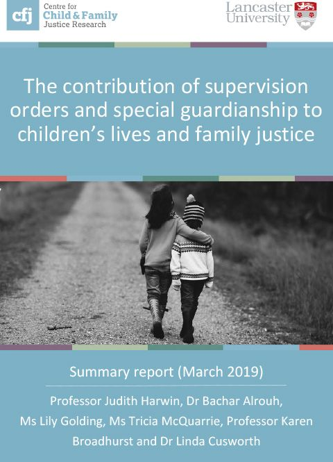 The contribution of supervision orders and special guardianship to children's lives and family justice - summary report