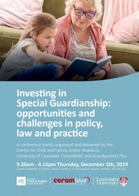 Investing in Special Guardianship: opportunities and challenges in policy, law and practice