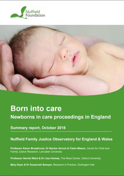 Born into Care: newborns in care proceedings in England - summary report