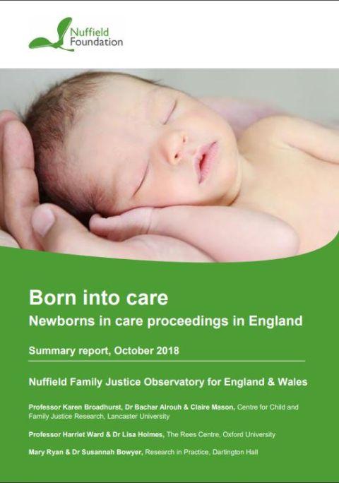 Born into Care: newborns in care proceedings in England - summary report