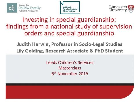 Investing in special guardianship: findings from a national study of supervision orders and special guardianship