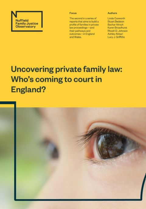 Uncovering private family law: who's coming to court in England?