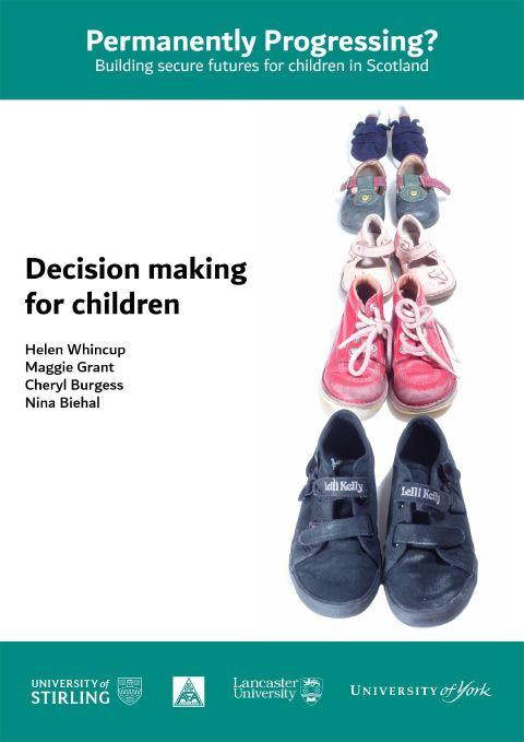 Decision making for children - final report