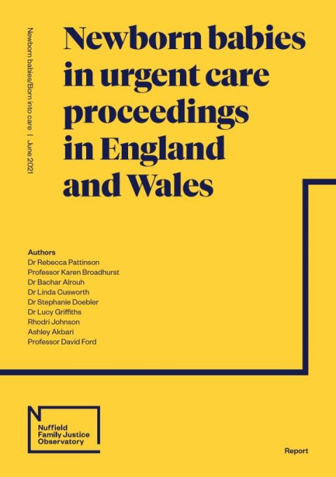 Newborn babies in urgent care proceedings in England and Wales