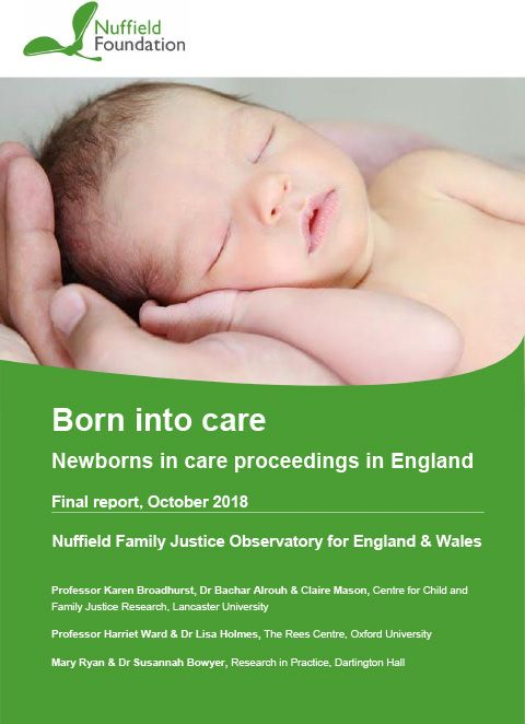 Born into care: Newborns in care proceedings in England - final report